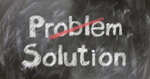 Tafel mit Schrift Problem - Lösung